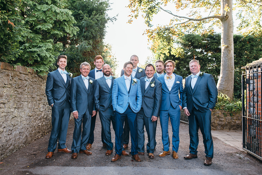 Bristol whimsical wedding. Groomsmen