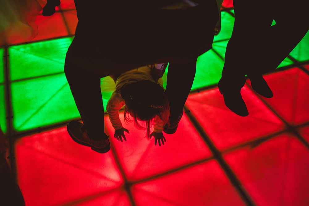 children playing on dancefloor