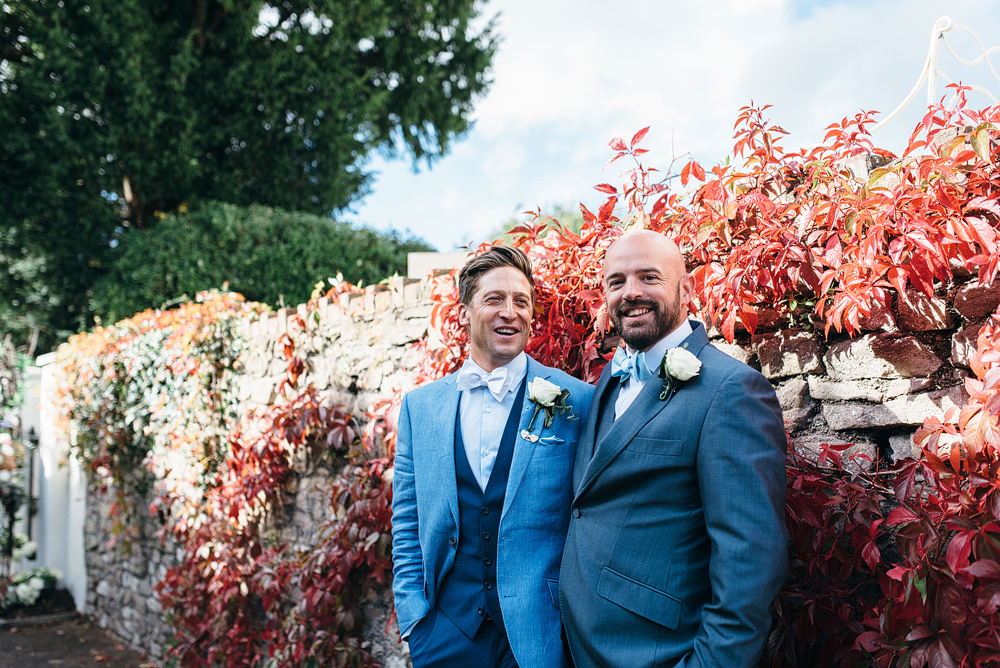 Groom and best man portraits