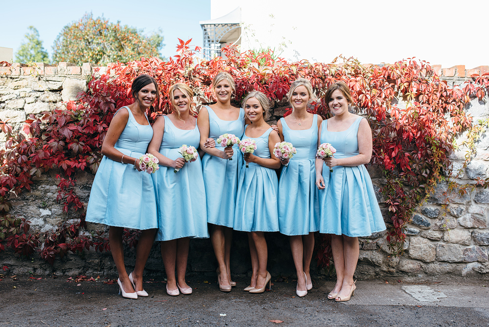 bridemaids in blue dresses. Summer wedding ideas