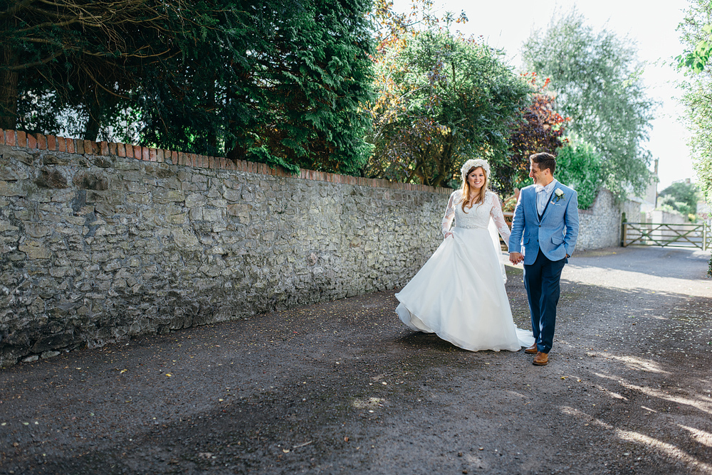 Bristol whimsical wedding romantic portraits