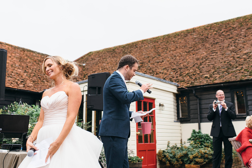 brides best friend talking at wedding