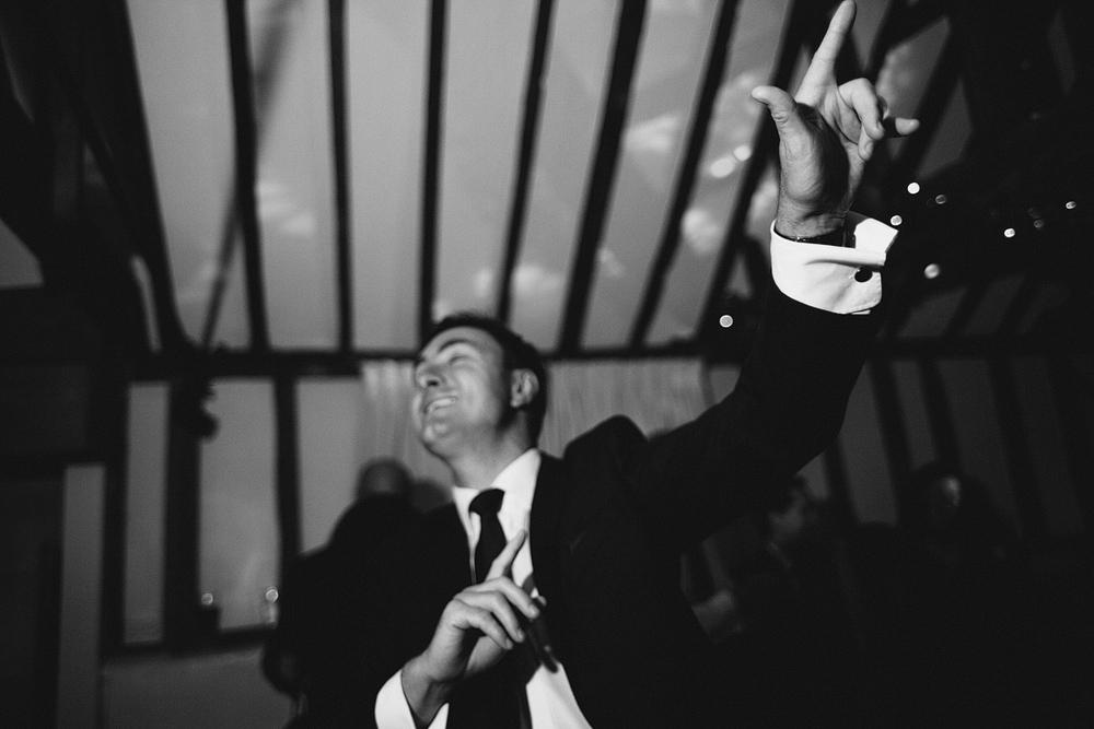 wedding guest dancing at the reid rooms