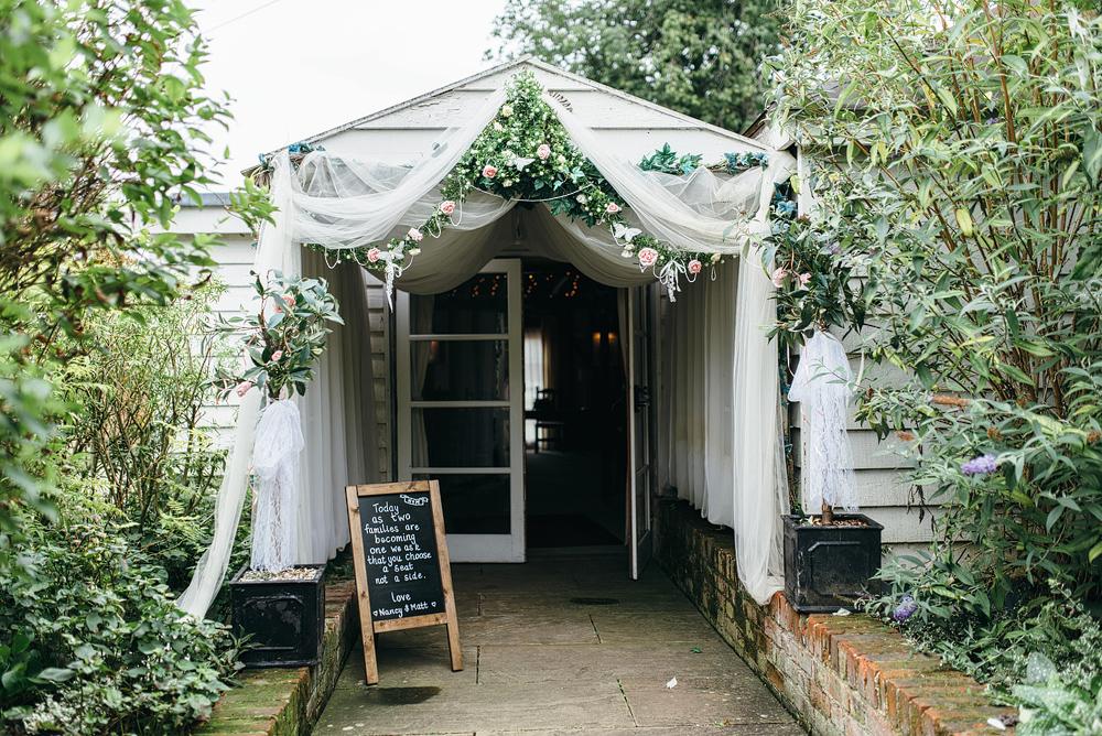 Entrance to wedding ceremony