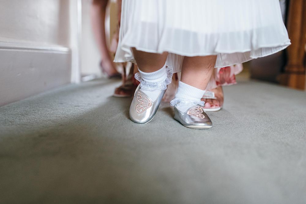 Little girls feet while walking