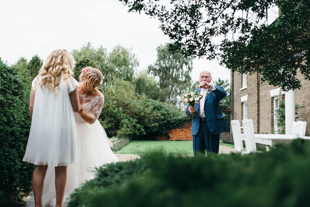 Father of bride checking time