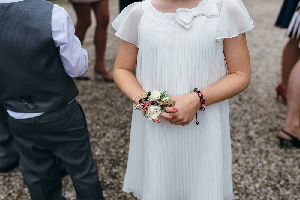 Little girl and corsage