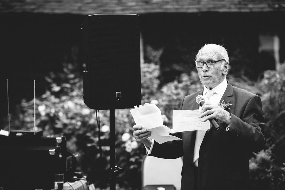 father of bride speaking at wedding at reid rooms